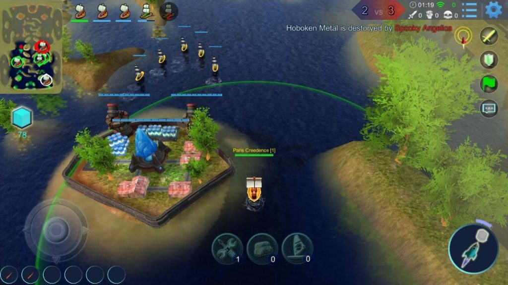 Sea War - Battle of ships 5v5