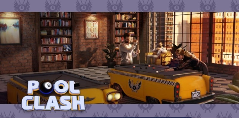 Pool Clash: new 8 ball billiards game