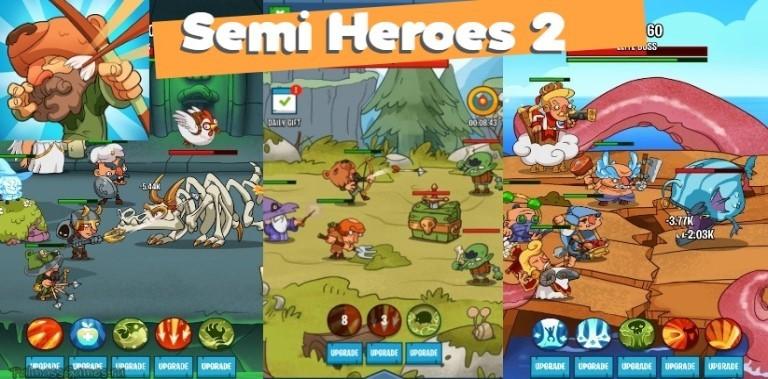 Semi Heroes 2: Endless Battle RPG Offline Game