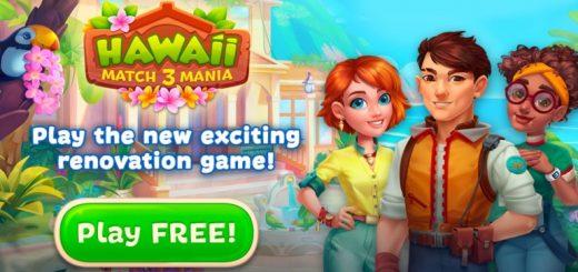 Hawaii Match-3 Mania Home Design & Matching Puzzle
