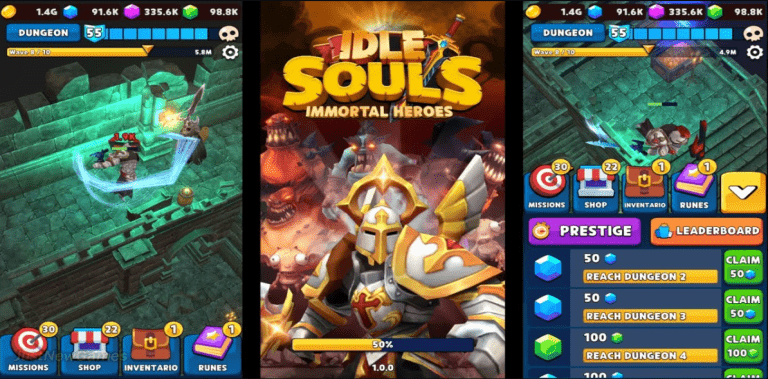 Idle Souls - Immortal Heroes in Exile
