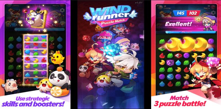 WIND Runner : Puzzle Match