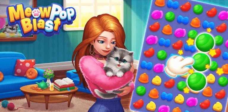 Meow Pop Blast - Match 3 Home Design