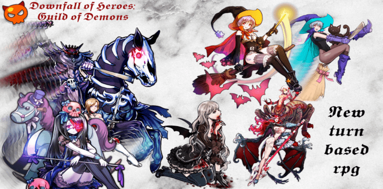 Downfall of Heroes: Guild of Demons turn-based RPG