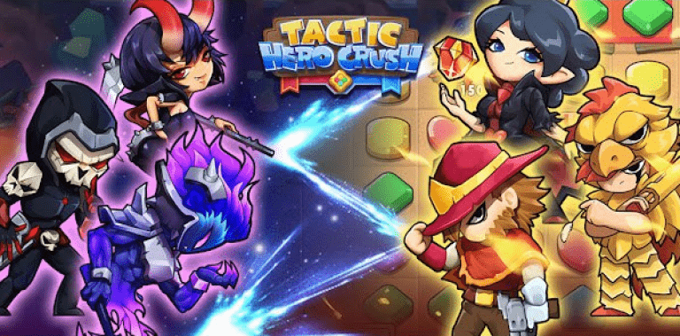 Tactic Hero Crush- Battle Strategy Puzzle Game